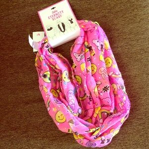Other - Justice Pink Emoji Infinity Scarf BNWT